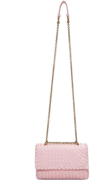 Bottega Veneta Pink Baby Olimpia Chain Bag