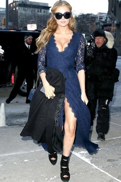 dress lace dress lace paris hilton gown fashion week 2015