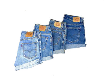 137ee356fb Levis High Waisted Cuffed Denim Shorts Rolled Up Denim Shorts Plain Jean  Shorts