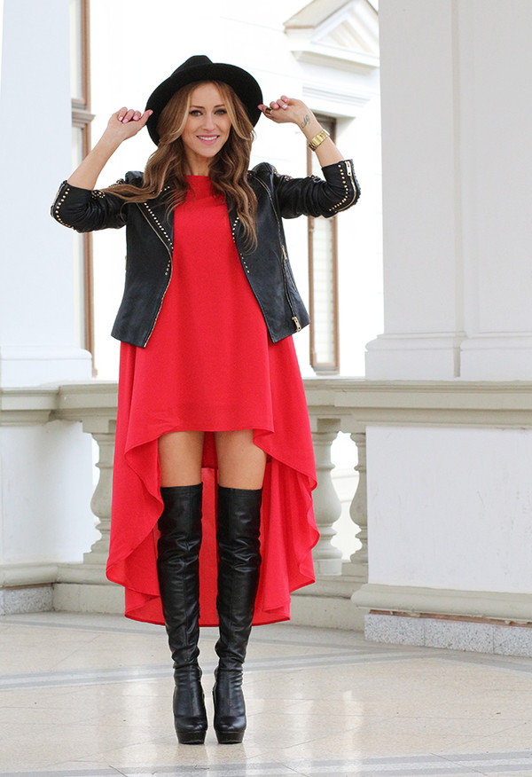 fashion spot dress jacket shoes hat
