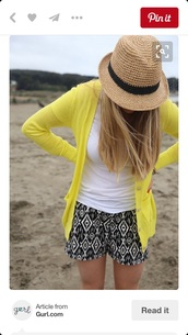 sweater,yellow cardigan