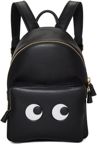 mini eyes backpack black bag