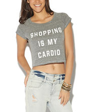 Shopping Is My Cardio Crop Tee | Wet Seal