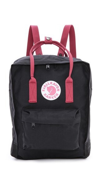 backpack black red bag