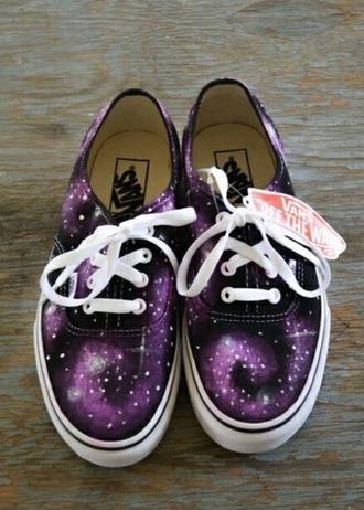 shoes vans galaxy vans purple women's shoes white