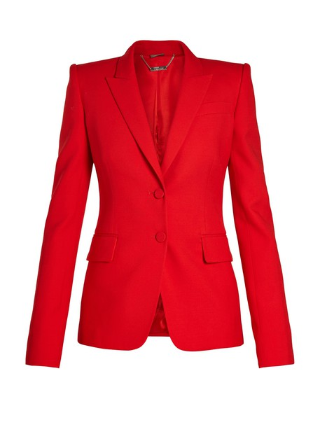 Alexander Mcqueen jacket red