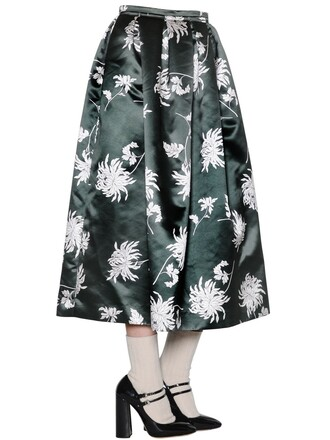 skirt floral green