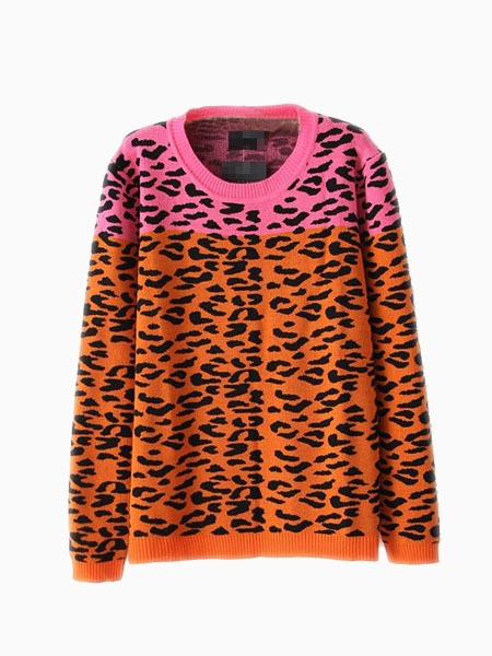 Leopard Sweater In Bright | Choies