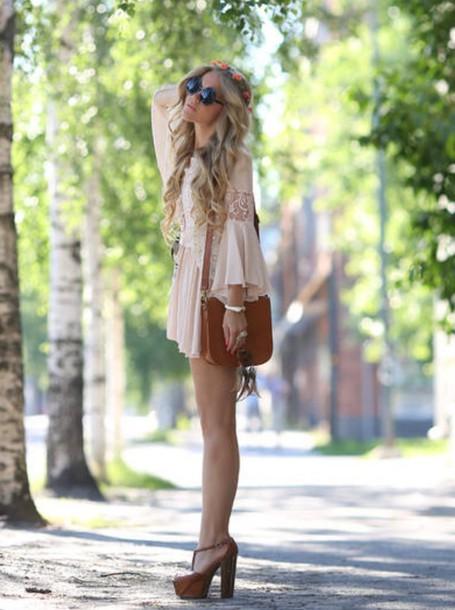 dress boho dress hippie bohemian dress lace dress cute dress