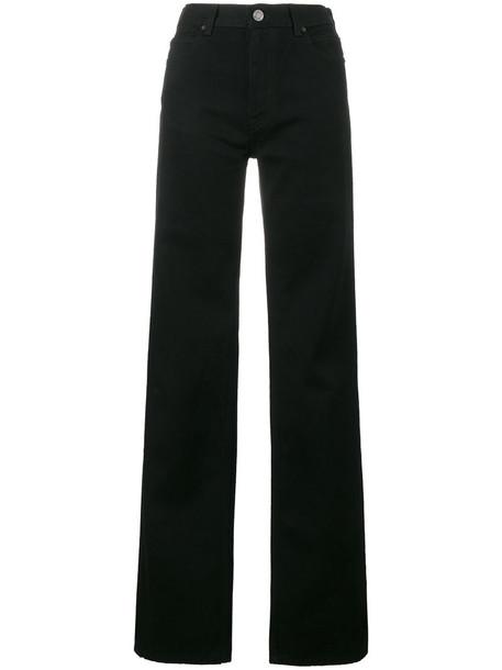 Calvin Klein 205W39nyc - wide leg high-rise jeans - women - Cotton - 25, Black, Cotton