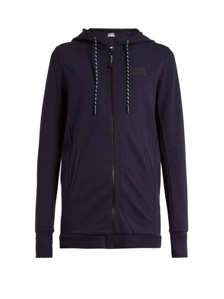 lndr sweatshirt zip navy sweater