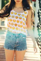Emo Smiles Crop top