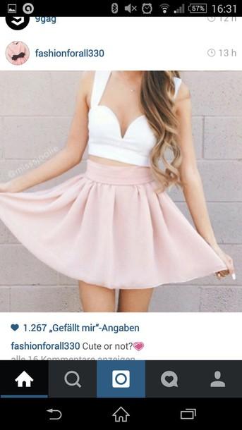 skirt rosa skirt pink nice top top