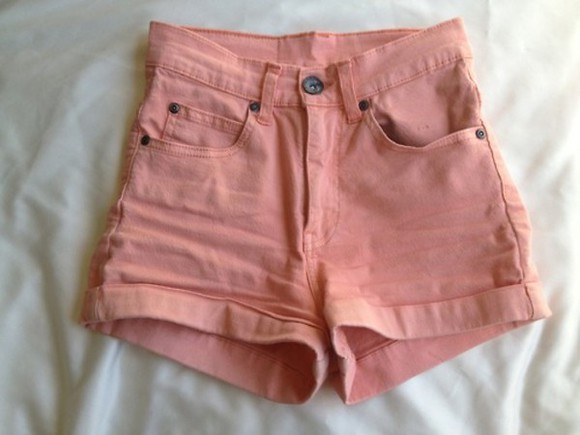 shorts denim tumblr pink pink shorts highwaisted shorts light pink