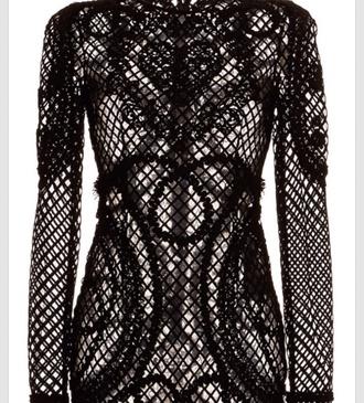 black dress long sleeve dress