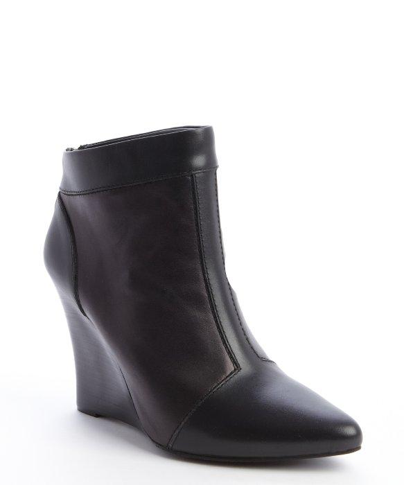 Nanette Lepore black leather rear zip