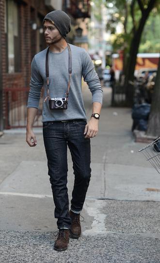 i am galla blogger menswear hipster menswear grey top