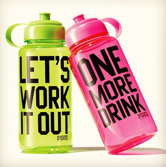 jewels water bottle pink green accessory