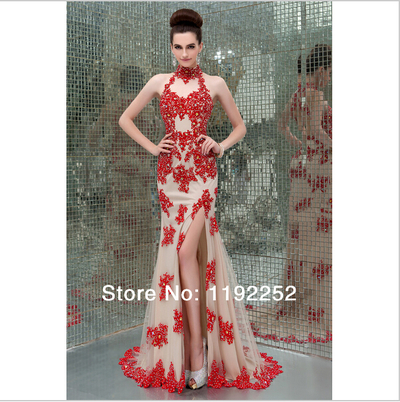 Custom made free shipping charming sexy high neck crepe prom dresses 2014 floor length mermaid evening gowns 2014 new arrival · dressprom20141 · online store powered by storenvy