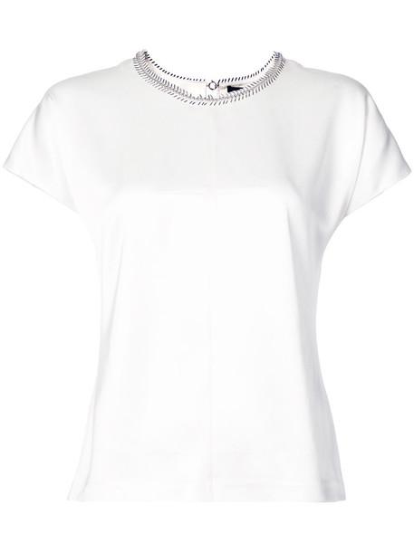 Alexander Wang top women embellished white silk