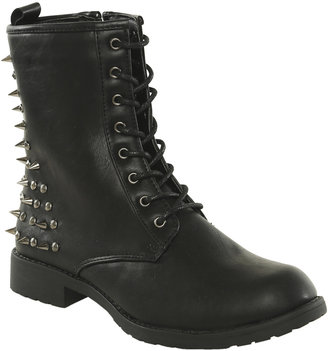 Spiked Heel Combat Boot - ShopStyle