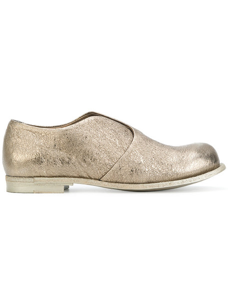 OFFICINE CREATIVE women loafers leather grey metallic shoes