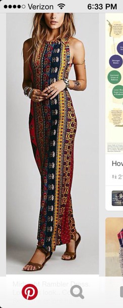 dress pattern boho dress