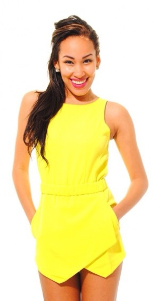 jumpsuit romper yellow yellow playsuit