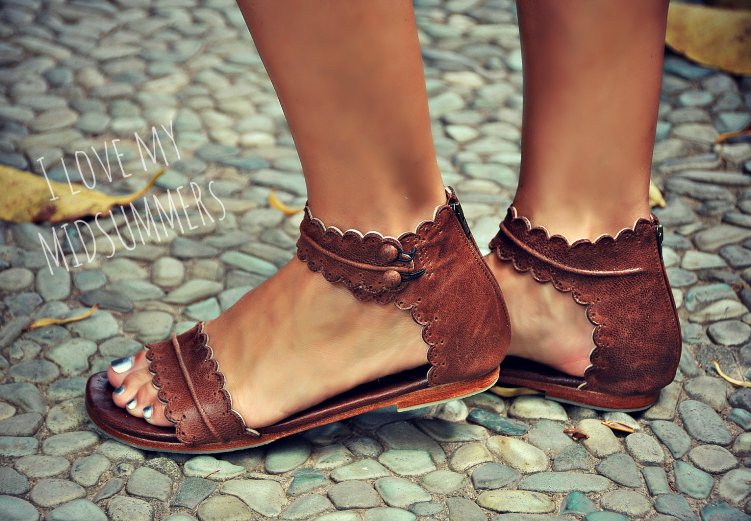 Midsummer Brown Leather Sandals Women Shoes Leather