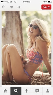 swimwear,bikini,cute bathing suit,sunglasses,teenagers,underwear,lingerie set,cute,cute top,cute top crops,young,sexy,sexy swimwear,skinny,pretty,print,colorful,blonde hair,boho,hippie,hippy pants,hippy chic beautiful,maaji,blue,pink,boho bikini,boho swimsuit