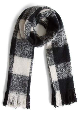 scarf black and white gingham scarf chicwish black and white