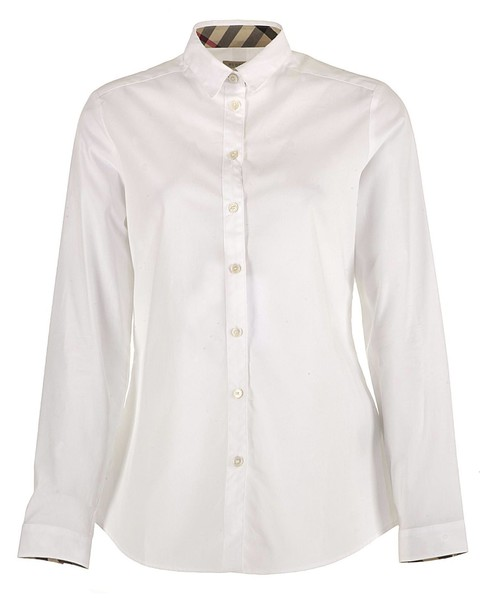 Burberry shirt cotton white top