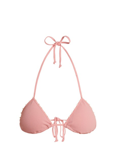 marysia swim bikini bikini top triangle bikini triangle pink swimwear