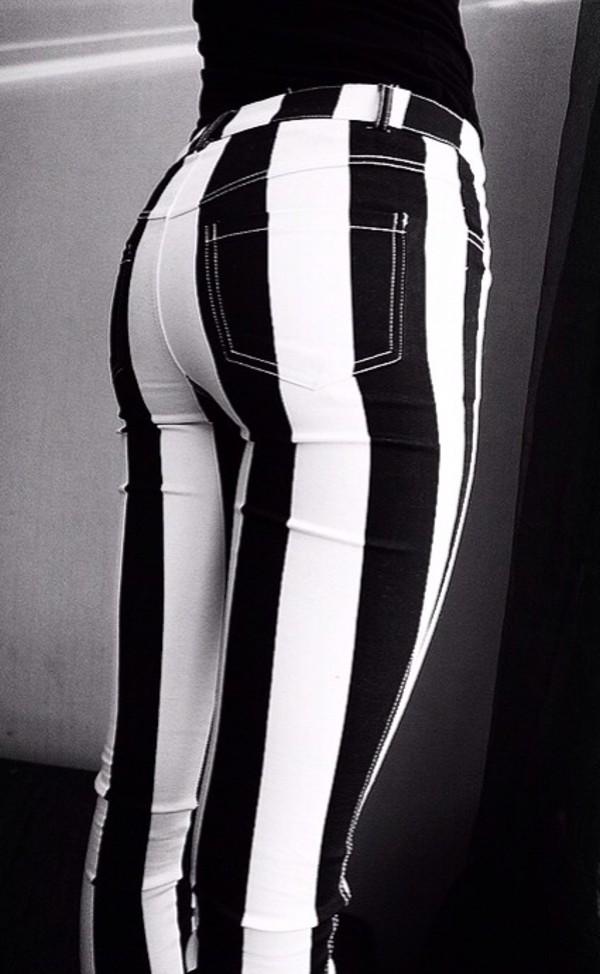 pants jeans stripes punk grunge striped pants