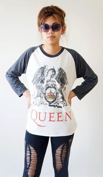 t-shirt clothes queen t shirt queen band band t-shirt queen shirt queen band