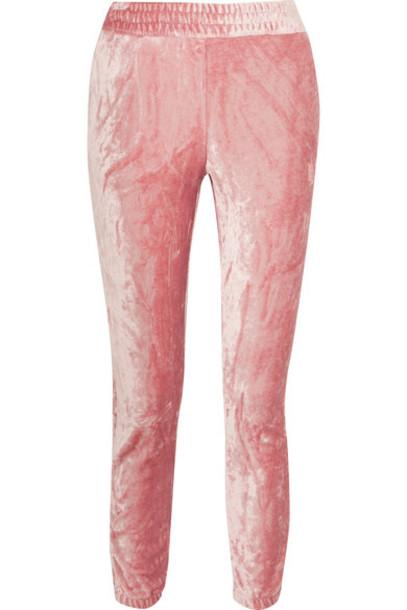 Nike pants track pants baby velvet pink baby pink