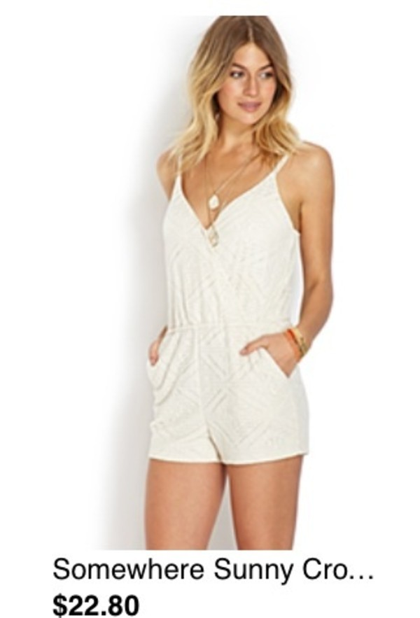 dress romper white