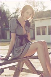 bow,grey dress,dress