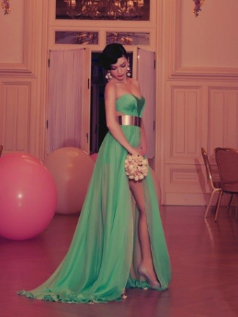 Elegant and sexy the green Floor-Length prom Dress/Evening Dress [B003] - $198.99 : 24inshop