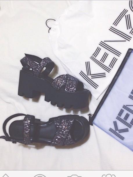 shoes kenzo platform shoes sweater