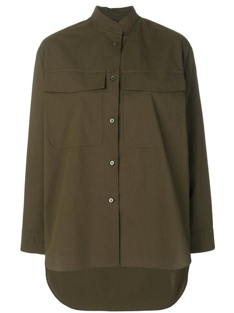 Odeeh - pocket detail shirt - women - Cotton - 36, Green, Cotton
