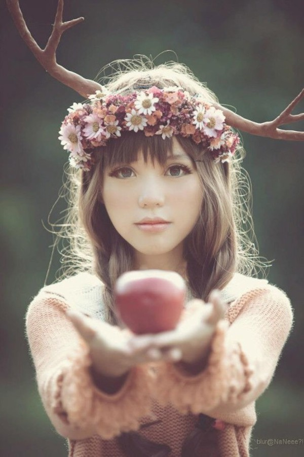 flower headband tumblr girl - photo #29