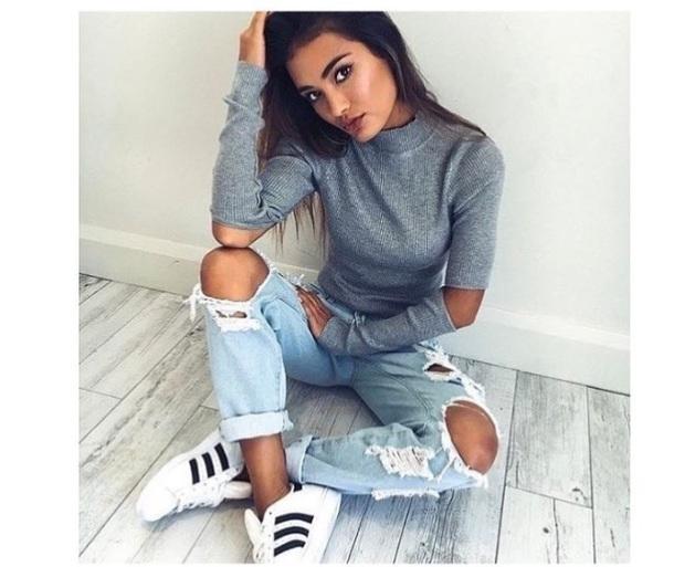 sweater grey pants