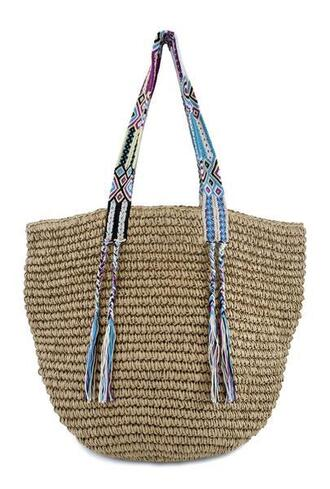 bag beach bag brown fallon and royce tote bag bikiniluxe