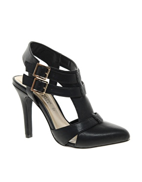New Look | New Look EC Prisoner Caged Heeled Shoes at ASOS