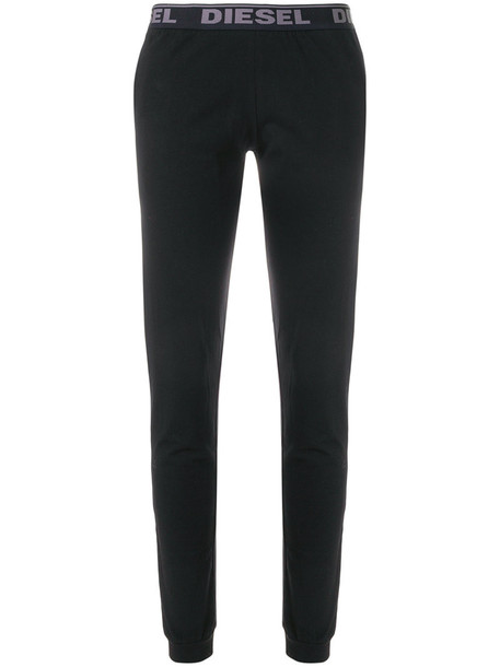 Diesel pants track pants women spandex cotton black