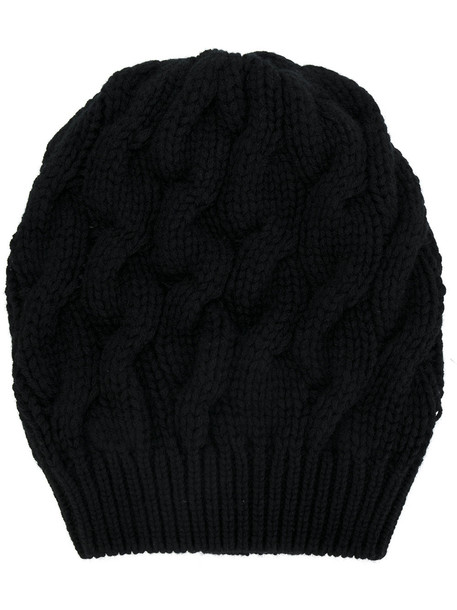 beanie black knit hat