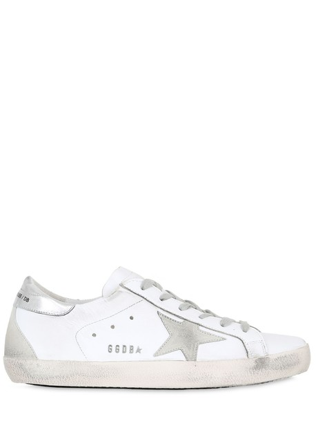 GOLDEN GOOSE DELUXE BRAND sneakers leather silver white shoes