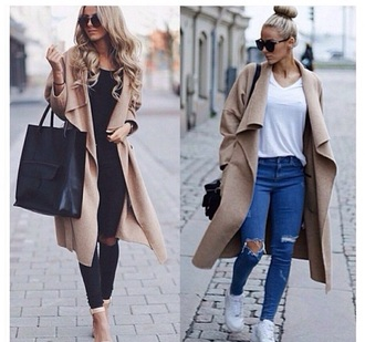 coat classy tote bag camel coat bag