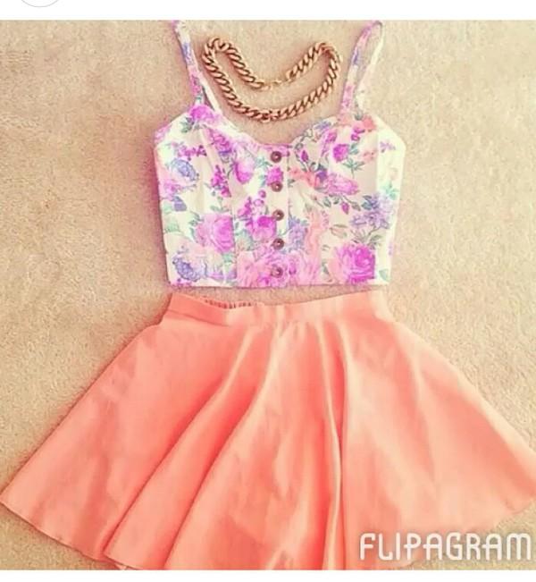 jewels tank top skirt